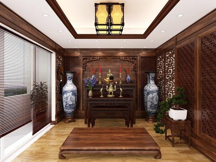 Nguyên tắc thiết kế nội thất phòng thờ đẹp và hợp phong thủy